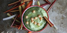 Homemade Vibrant Hummus with Veggie Sticks