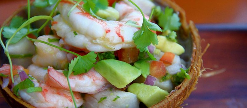 Tropical Panamanian Shrimp Ceviche