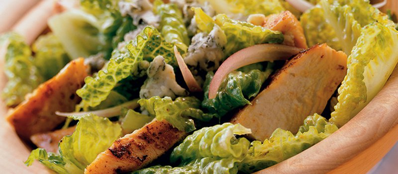 Blue Cheese Caesar Salad with Grilled Chicken