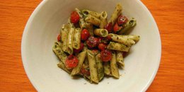 Gluten-Free Pesto Pasta With Roasted Tomatoes