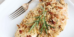 Baked Tilapia with Pecan Rosemary Topping