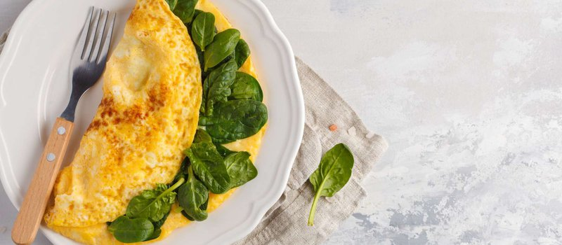 Spinach and Bell Pepper Omelette