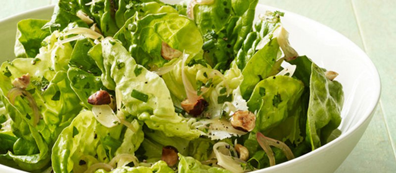 Boston Lettuce Salad With Herbs and Toasted Almond