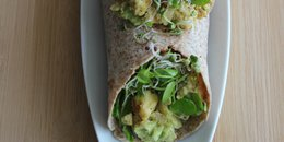 Tofu Scramble Wrap with Greens and Zingy Avocado