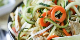 Zucchini Noodle Healthy Pad Thai