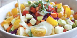 Rainbow Chopped Salad with Creamy Sage Dressing