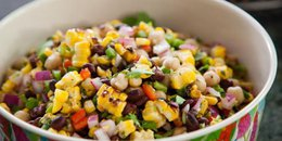 Grilled Corn & Bean Salad
