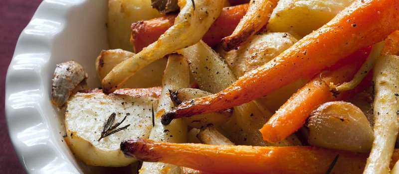 Roasted Sweet Potatoes, Carrots and Parsnips