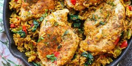 One Pot Low FODMAP Chicken and Rice