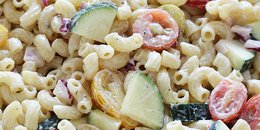 Macaroni Salad with Tomatoes & Zucchini