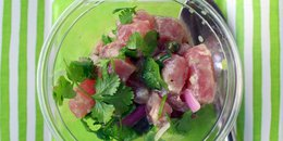 Caribbean Tuna Ceviche with Avocado and Cilantro