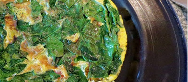 Spinach and Vegetable Omelette