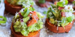 Sweet Potato Toast with Smoked Salmon & Guacamole