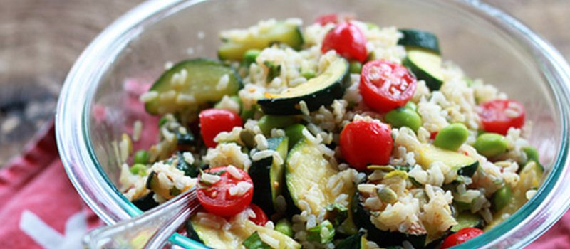Summer Veggie Rice Bowl