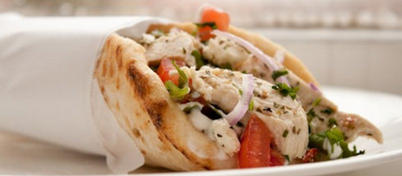 Chicken Gyros with Tomato Tzatziki