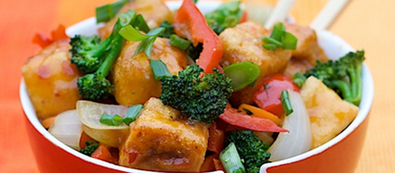 Sweet Chili Tofu Stir-Fry