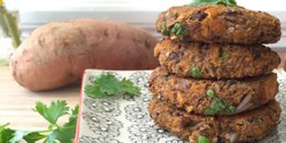 Veggie Burger with Black Beans & Sweet Potato