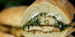 Goat Cheese Pesto Chicken Sandwiches
