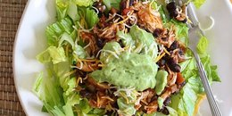 Crock Pot Chicken & Black Bean Taco Salad