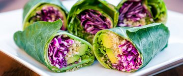 Quinoa & Hummus Stuffed Wraps