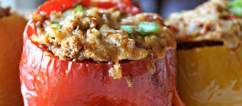 Microwave Stuffed Bell Peppers