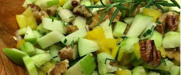 Apple, Lemon, and Nut Salad
