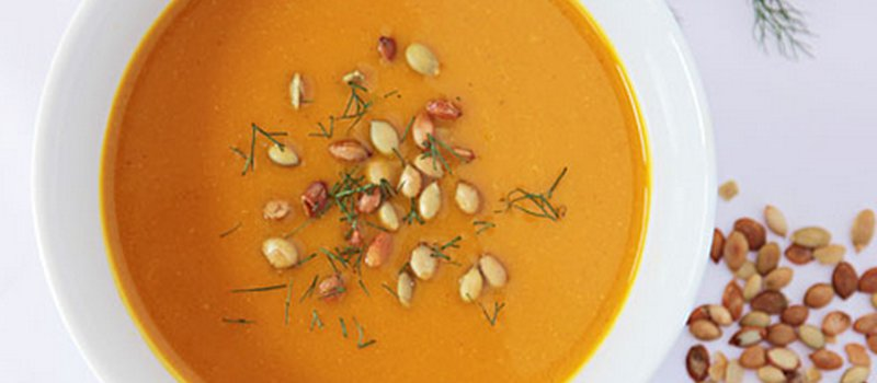 Kabocha Soup with Spiced Pepitas