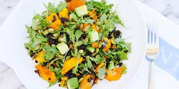 Braised Lentil Salad with Roasted Kabocha
