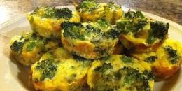 Mini Broccoli Cheese Quiches