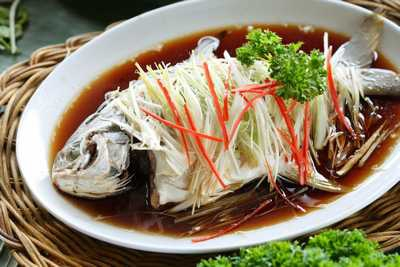 Steamed Red Snapper with Ginger Root