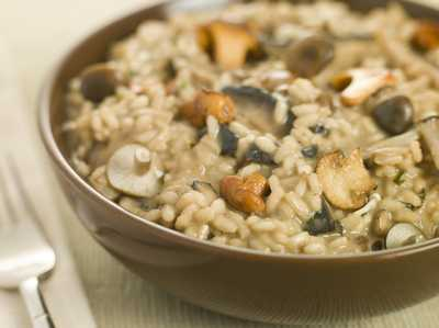 Mushroom Risotto with Spinach