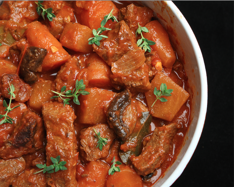 Beef Stew with Potatoes, Carrots & Mushrooms