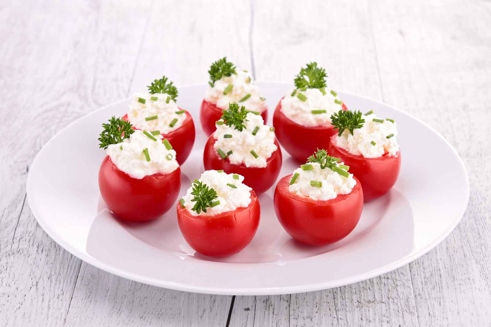 Ricotta-Stuffed Cherry Tomatoes