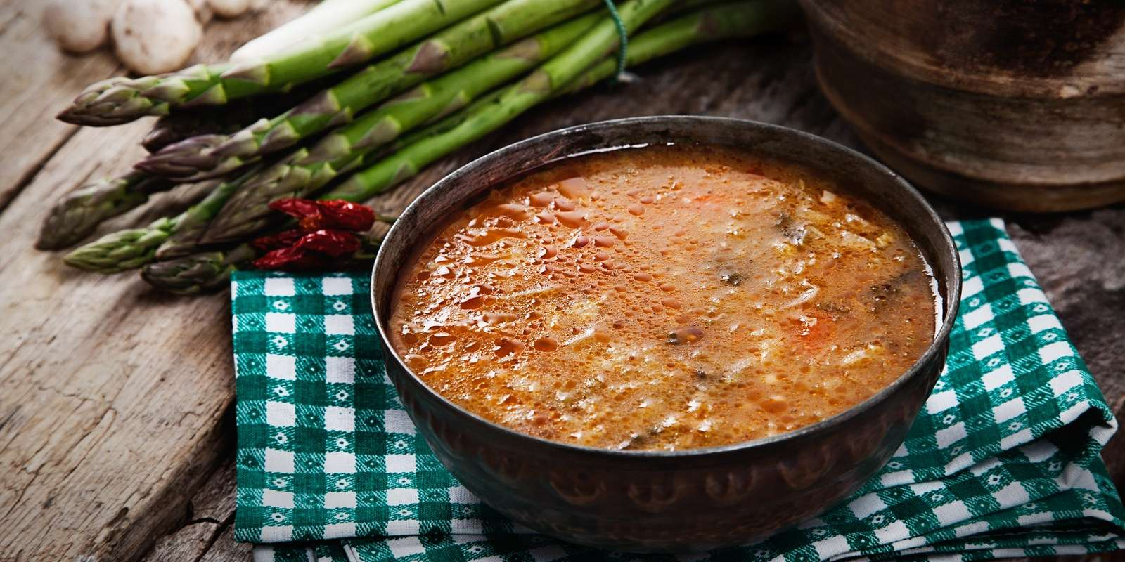 Carrot Soup with Asparagus
