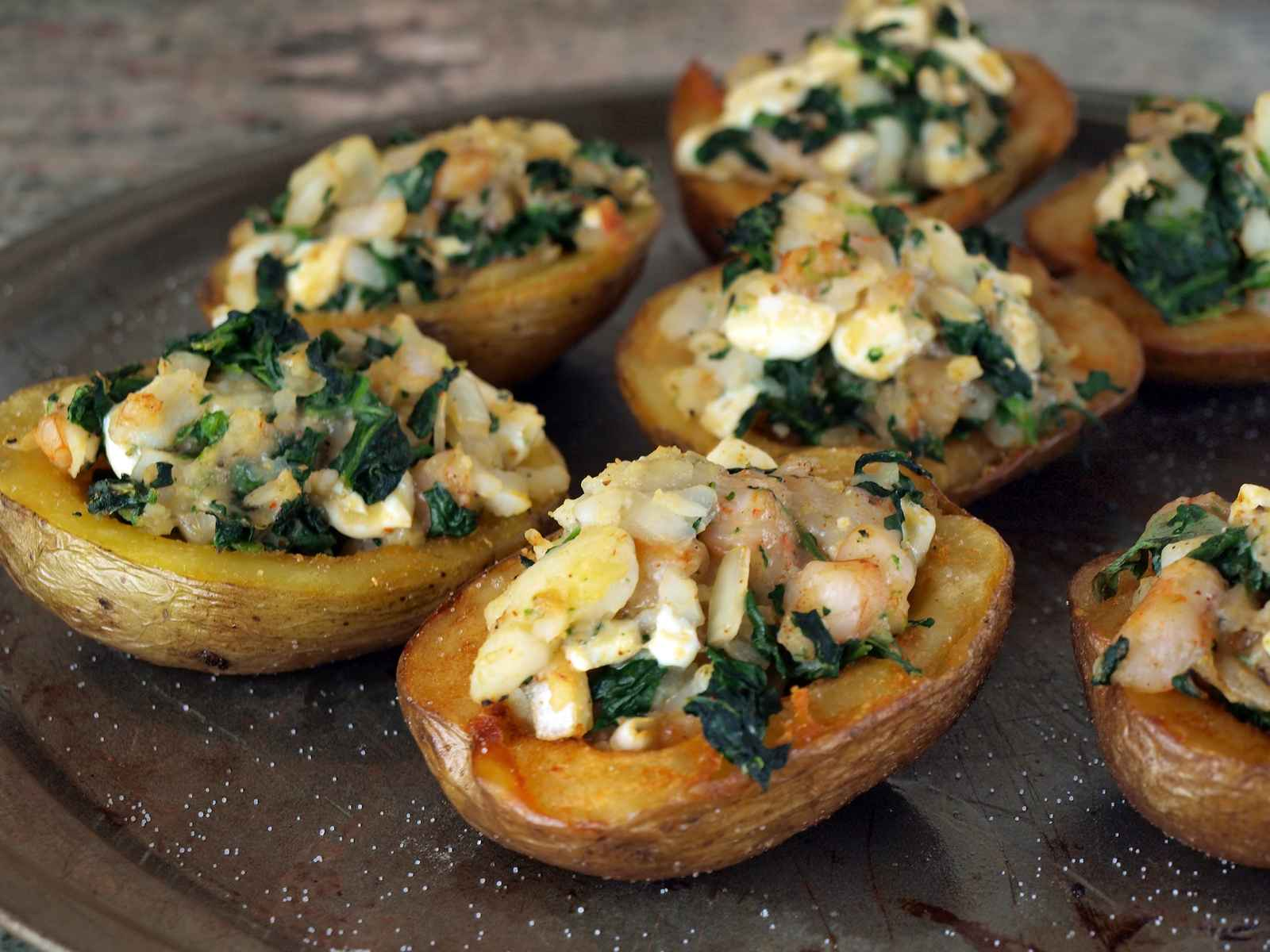 Kale Stuffed Potatoes