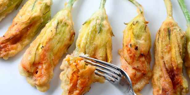 Deep- Fried Zucchini Flowers