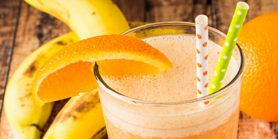 Orange-Banana Tofu Smoothie