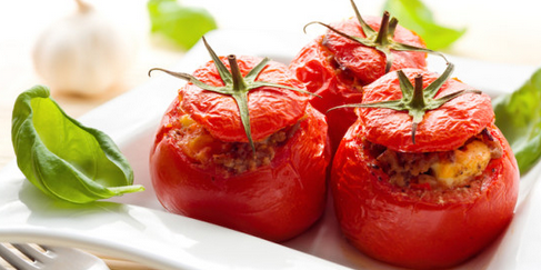 Arugula and Bulgur-Stuffed Tomatoes