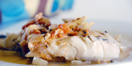 Haddock Fillet with Apples and Spice