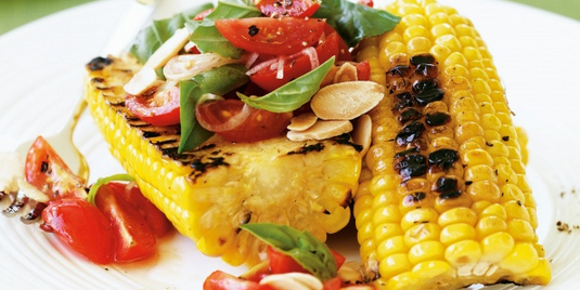 Sweet Corn & Almond Salad