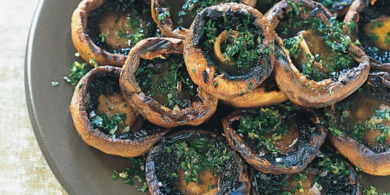 Grilled Mushrooms with Gremolata