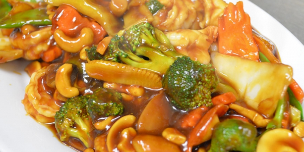 Vegetable Stir-Fry with Chestnuts and Mushrooms