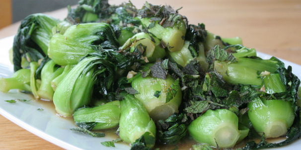 Pan-fried bok choy