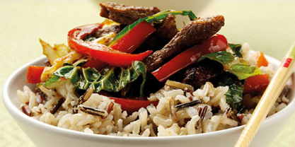 Thai Beef Stir-Fry with Rice