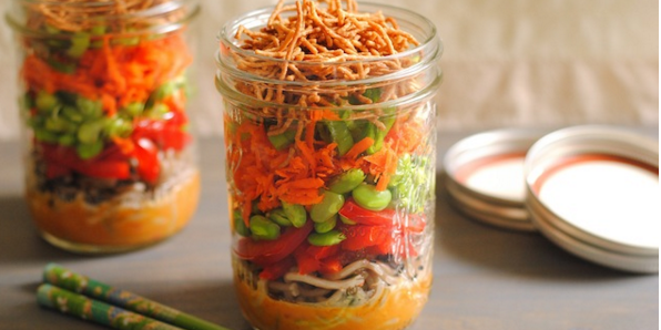 Asian Noodle Salad Jar