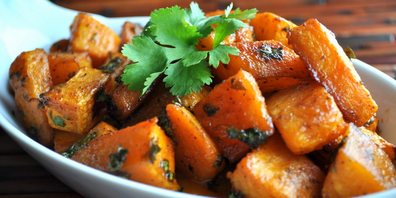 Garlic Parmesan Roasted Butternut Squash