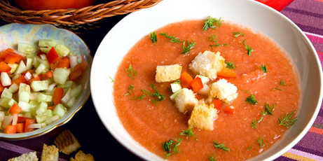 Spanish Garlic Soup with Italian Bread