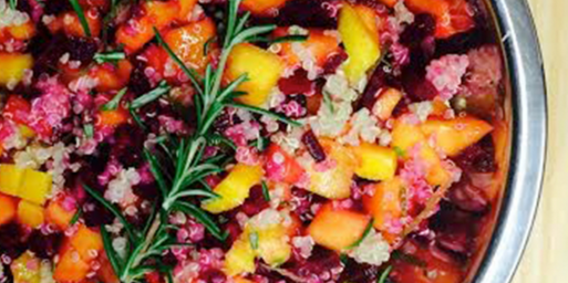 Mango Beet Rosemary Lime Salad