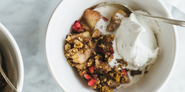 Pear, Pomegranate & Maple Crumble