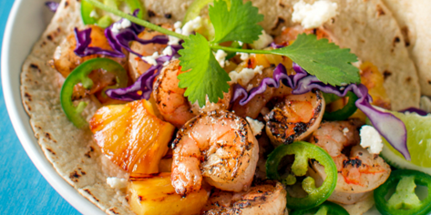 Grilled Shrimp & Pineapple Tacos